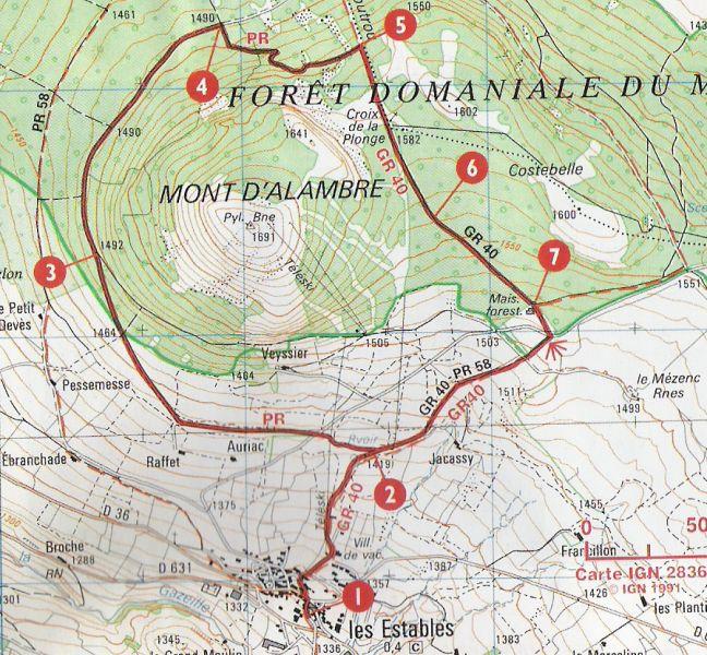 Les estables tour du mont alambre - Office tourisme les estables ...